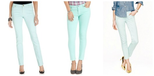 Mint pants Collage